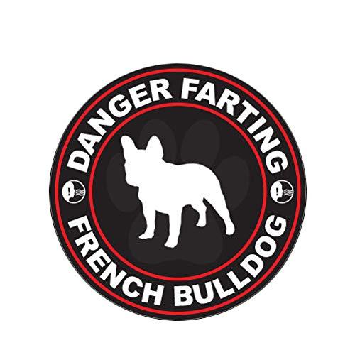 MAGNET Danger Farting French Bulldog Dog Canine Pet Magnetic Vinyl Car Fridge Sticks to any Metal Surface 5'