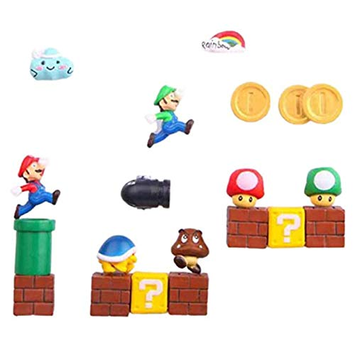 None/Brand 63 Pieces Of 3d Resin Refrigerator Magnet Children's Magnet Toy Family Decoration Ornaments Figurines Wall Magnet Bullet Brick