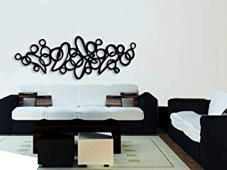 Lasaani WP021 ACP Wall Plaque Painted Cutout Stickable Home Decor Wall Art (Glossy Black)