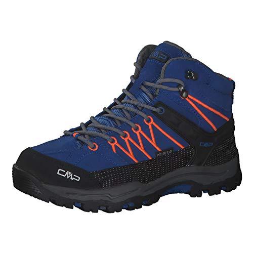 CMP Kinder Trekking Schuhe Rigel MID 3Q12944 Royal-Orange Fluo 35