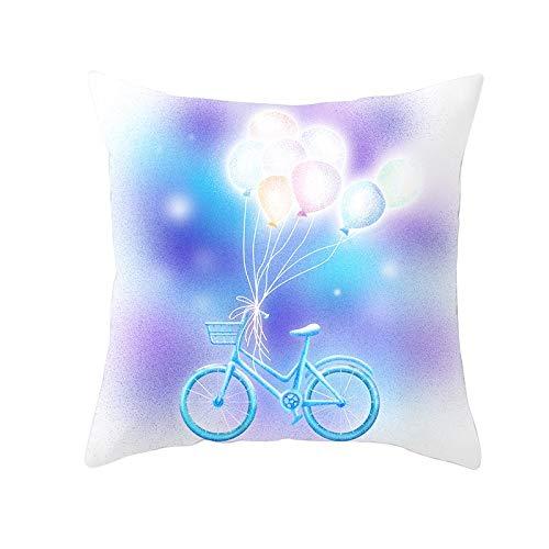 Fundas de Cojines Funda de Cojín Globo de bicicleta Cojines Decoracion Terciopelo Suave Fundas de Almohada Cuadrado para Sofá Cama Sillas Coche Dormitorio Decorativo Hogar M363 Pillowcase,40x40cm