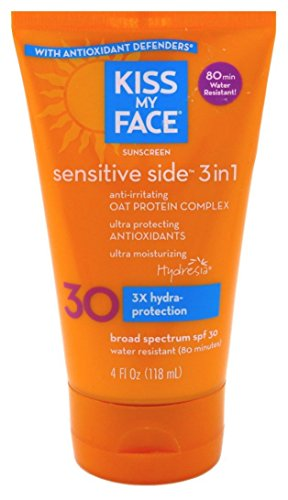 Kiss My Face, Sensitive Side 3in1 Sunscreen, SPF 30
