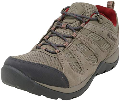 Columbia Women's Redmond V2 Waterproof Hiking Shoe, Pebble/Beet, 6.5