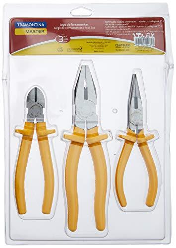 Tramontina 43409107, Kit de Ferramentas 3 Peças Contem 1 Alicate 8 1 Alicate de Bico 6 e 1 Alicate Corte