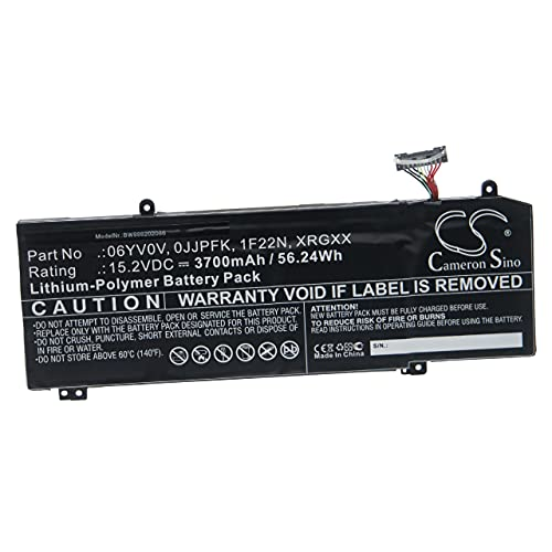 vhbw Batería Recargable Compatible con DELL Alienware ALW17M-D2737S, ALW17M-D2746S, ALW17M-D2758S Notebook (3700 mAh, 15,2 V, polímero de Litio)