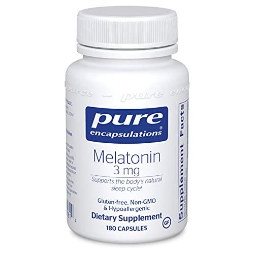 Pure Encapsulations Melatonin 3 mg   Antioxidant Supplement to Support Natural Sleeping*   180 Capsules
