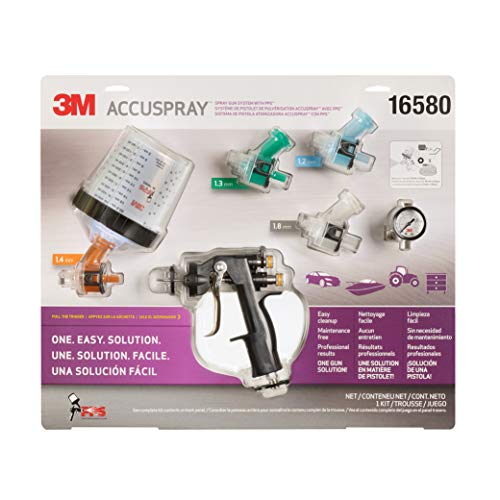 3M 16580 Accuspray Paint Spray Gun System with Original PPS, Standard, 22 Ounces, 4 Nozzles