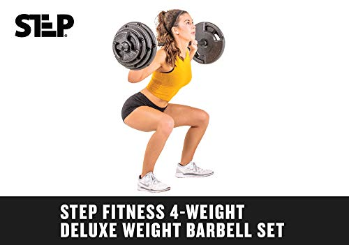 The Step Club Quality 4-Weight Deluxe Barbell Set (Includes The bar) by Step Fitness