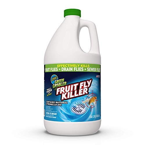 Green Gobbler Fruit Fly Goodbye Gel Drain Treatment | Drain Fly Killer | Fruit Fly Killer | Drain Flies Treatment | Fruit Flies Treatment | Drain Fly & Fruit Fly Eliminator (1 Gallon)
