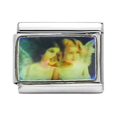 AKKi jewelry Italian Charms Armband Classic glieder Italy Charm,Silber Gold Edelstahl Links Kult modele Blume Tiere Herz für Engel