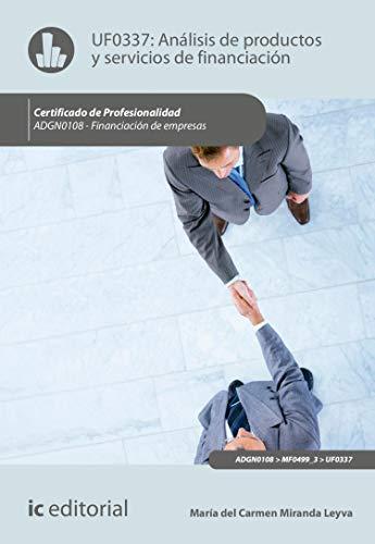 Análisis de productos y servicios de financiación. ADGN0108