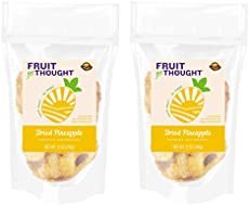 Dried Pineapple 12 Ounce Bag (Pack of 2) - Seriously Just Pineapple, No Added Sugar, No Preservatives - Naturally Grown Pineapple Multi-serving Bag Bundle