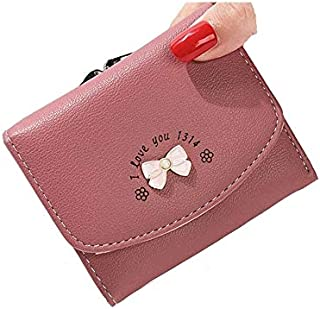 moca BOW-KNOT short mini wallet for Womens Girls Ladies Short Mini Small Clutch Wallet cash card coin holder purse for womens Women's Ladies Girls