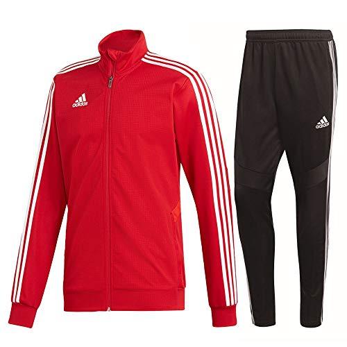 adidas Tiro 19 Trainingsanzug Herren rot schwarz Gr L