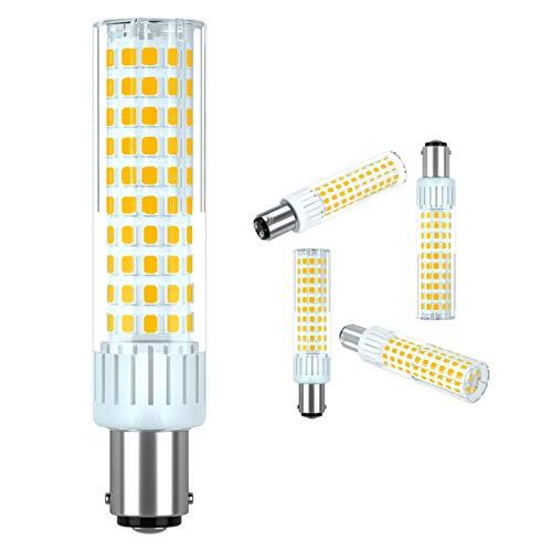 Preisvergleich Produktbild Tech Arts 10W B15D LED Lampe,  1250 Lumen,  3000k Warmweiß Kein Flackern LED Leuchtmittel,  Dimmbar 360 Grad Winkel,  Ersatz 100-120W B15D Halogenlampe,  1er Pack