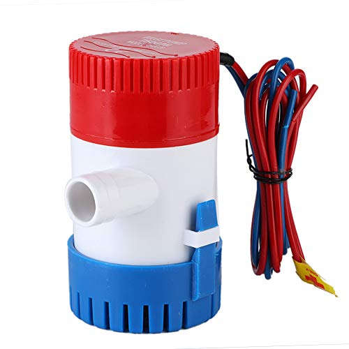 Fydun Bomba de Agua de sentina Sumergible para Barcos 12V / 24V Bomba de achique eléctrica Marina para estanques Piscinas Spas Barco silencioso Caravana RV Sumergible(12v)