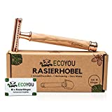EcoYou® EcoYou Zero Wave - Maquinilla de afeitar para mujer (incluye 10 cuchillas de afeitar EcoYou, afeitadora de seguridad en húmedo y sin plástico)