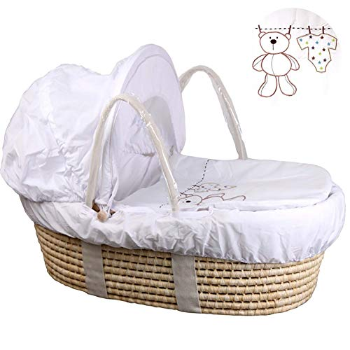 HLR-Travel Beds Crib Travel,Portable Bamboo Fiber Material Car Go Out Basket (Color : #2)