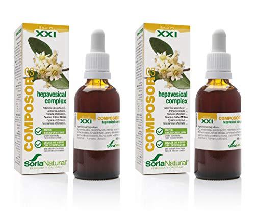 Soria Natural - COMPOSOR 03 - HEPAVESICAL S. XXI - Mejora el rendimiento y la salud del sistema digestivo y hepático - 50 ml – Producto Vegano (PACK2)