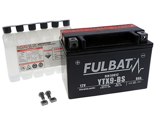 Batterie FULBAT YTX9-BS MF wartungsfrei für KAWASAKI Z750 (EU) 750 ccm Baujahr 09-12[ inkl.7.50 EUR Batteriepfand ]