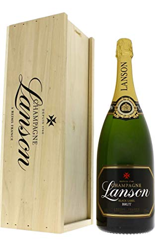 Champagne AOC Brut - Black Label - Lanson - Magnum - Cassetta di legno - 1 x 1,5 l.