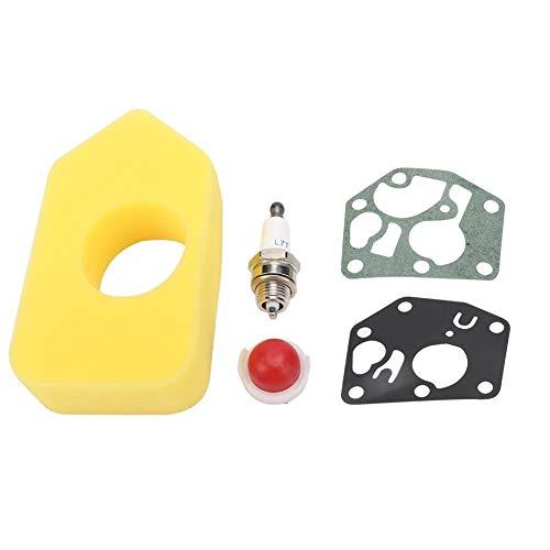Ymiko Kit de bujía de Bombilla de imprimación de Esponja para Filtro de Aire Apto para Briggs & Stratton 3.5hp/3.75hp