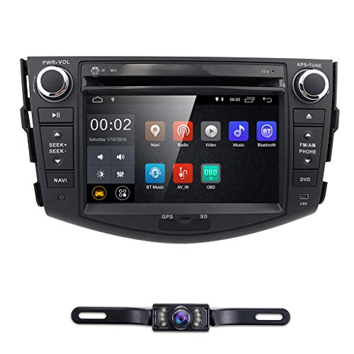 """Android 10 Touch Screen Car Stereo for Toyota RAV4 2006 2007 2008 2009 2010 2011 2012-7"""" inch Double Din in Dash DVD Player Radio Video Multimedia Bluetooth WiFi MirrorLink GPS Navi with Backup Cam"""