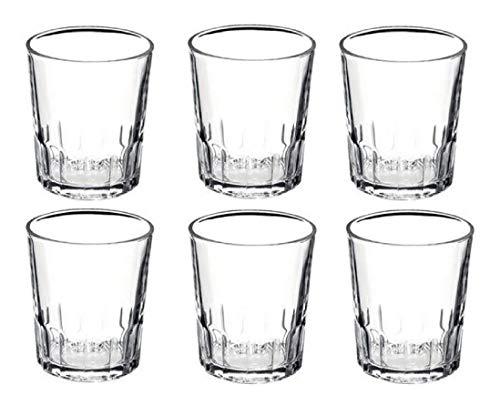 Set de 6 vasos de cristal de 9x7cm - 27cl