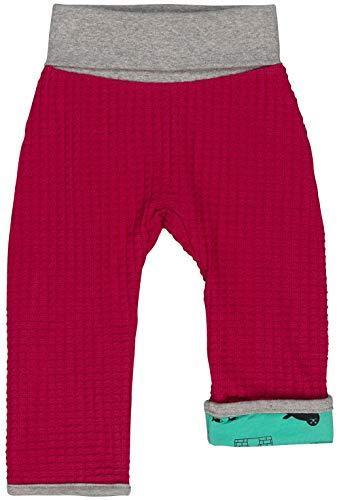 loud + proud Mädchen Wendehose Strick Aus Bio Baumwolle, GOTS Zertifiziert Hose, Rosa (Berry Ber), 116 (Herstellergröße: 110/116)