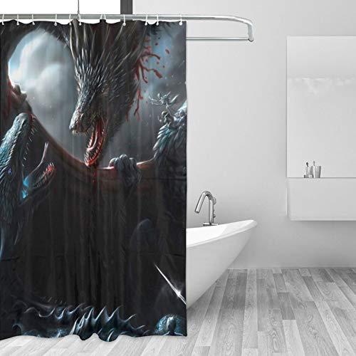 Juego tronos cortina de ducha impermeable decoración del baño del hogar con 12 ganchos poliéster lavable 60x72 en