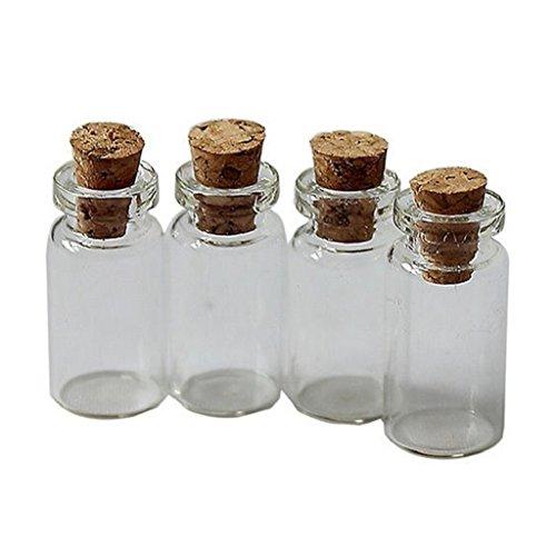 Suberde - Mini tappo in sughero trasparente, 10 pezzi