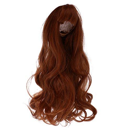 MagiDeal 40cm Puppen Perücke Haar Passt Für 60cm Sd Bjd Puppen - Braunen Locken