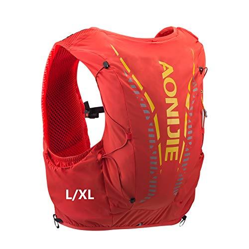 AONIJIE Veste de randonnée avec sac à dos de sport de 12 L intégré, légère, pour le plein air, les marathons, la course à pied, le cyclisme, Orange-L/XL