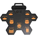 Electronic Drum Set, Portable Drum Mat, Roll Up Drum Pads, with 2 Foot