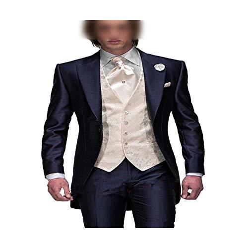 Outwear 3 piezas formales de los hombres traje slim fit fies