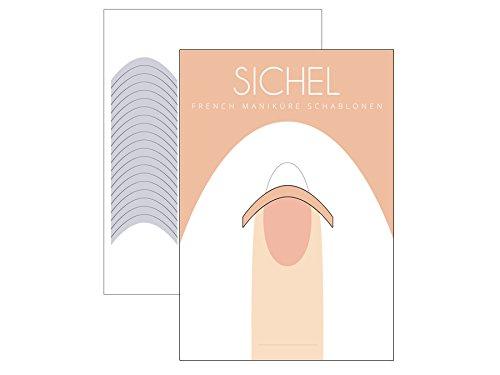 51 x FRENCH Maniküre SCHABLONE Sichel - French Nail - French Nagel-Sticker - French Linie - Smile Line