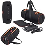 MASiKEN Carrying Case for JBL Xtreme 2 Waterproof Portable Bluetooth Speaker and Accessories, Extra Pocket for The Charger Soft Travel Case