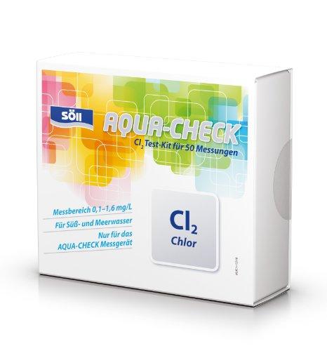 Söll Test à l'ammonium avec mesures du kit de Test NH4+ Testd e Chlore pour 50 mesures