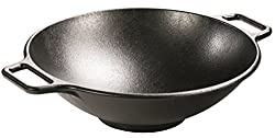 Lodge 14 Inch Cast Iron Wok. Pre-Seasoned Wok