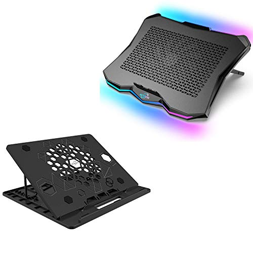 AICHESON AA3 1 Big Fan RGB Lights Laptop Cooling Cooler and X5-BLK Laptop Stand