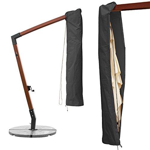 anndora Schutzhülle Ampelschirm 3 x 3 m Sonnenschirm Husse Schoner Abdeckhaube - Grau