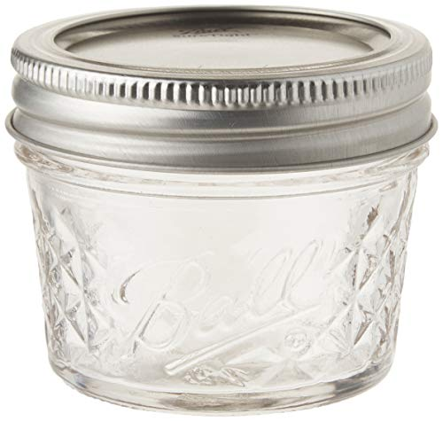 Ball 4-Ounce Quilted Crystal Jelly Jars