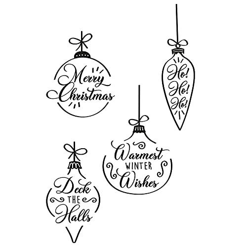 Sizzix 665355-Palline di Natale Trasparenti di Olivia Rose, Confezione da 4, Multicolore, Taglia unica
