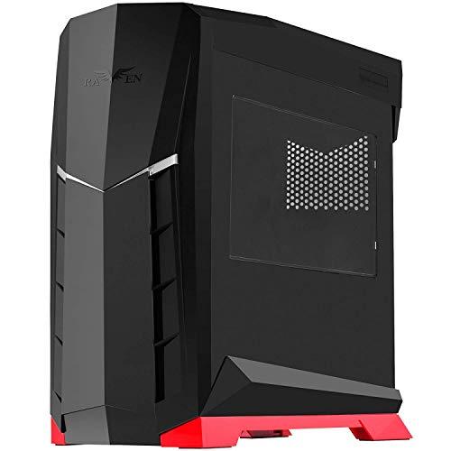 SilverStone SST-RVX01BR-W - Raven Midi Tower Gaming Gehäuse mit Fenster, ATX, schwarz/rot
