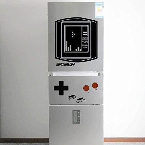 Retro Falling blocchi Frigo Boy (Game Boy)-Tetris Gioco Vintage Adesivo da parete in vinile da parete 39'H x 18W