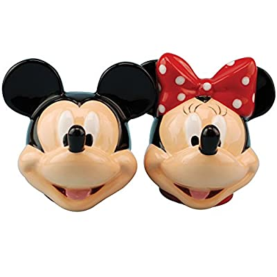 Disney Mickey and Minnie Mouse Heads Magnetized Salt & Pepper Shakers Set by WESTLAND GIFTWARE INC