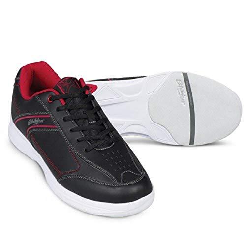 EMAX KR Strikeforce Flyer Bowling-Schuhe Damen und Herren, für Rechts- und Linkshänder in 6 Farben Schuhgröße 38-48 wahlweise mit Schuh-Deo Titania Foot Care (Lite Rot/Schwarz, US 7,5 (40))