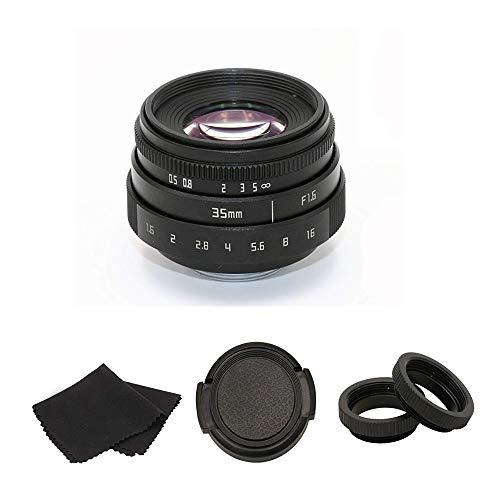 35 mm F1.6 CCTV C-Mount APS-C Objektiv + C-FX Objektivadapter Kit für Fujifilm XT-10 XA2 XT2