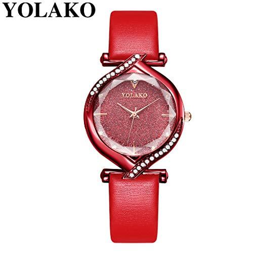 Uhr Armbanduhren Männer Damenuhren Hansee Frauen Beiläufig Armbanduhr Mit Lederarmband Analoge Quarz Uhren Wrist Watches(F)