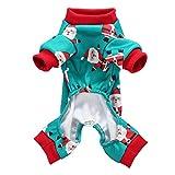 Shangjunol Babbo Natale Stampa Pet vestiti caldi di Inverno Piccolo Medio Pet Abbigliamento Pigiama Natale Animal Costume